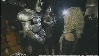 Cher, Gene Simmons, Paul Stanley Backstage at the AMA Awards Jan 8th 2001