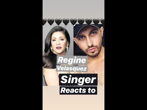 Singer REACTS to Regine Velasquez - i don't wanna miss a thing