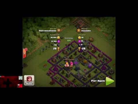Clash of Clans - Defense Witches Town Hall Fail HollywoodShono versus moadamx Gold I