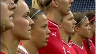 Fußball Frauen EM Quali Österreich - Wales  Interviews - Aufstellung