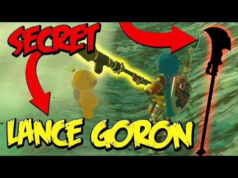 SECRET LANCE GORON ! - ZELDA BREATH OF THE WILD (BOTW EXPERT ASTUCE) #387