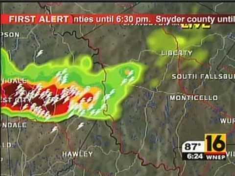 Tornado Warning for Northeast PA - WNEP - July 23 2010