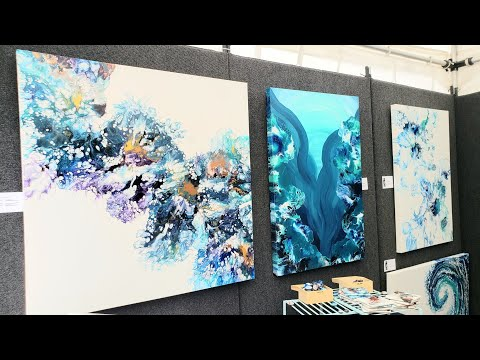 Art Festivals - Tips and Experience ~ Live footage at the End / Acrylic Pouring / Fluid Art