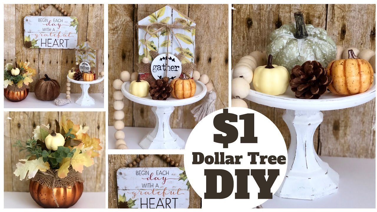 Easy and Simple Dollar Tree Fall DIYs | Fall 2020