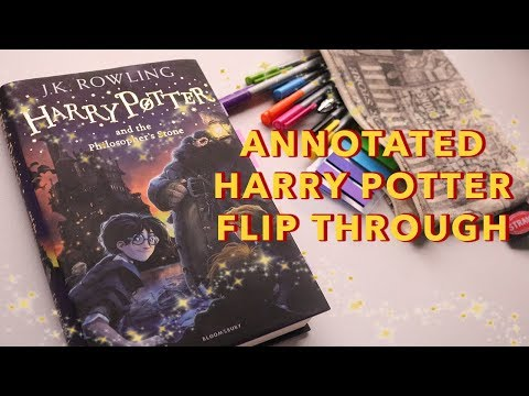 ANNOTATED HARRY POTTER FLIP THROUGH ✨