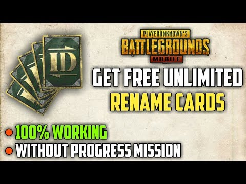 How To Get Rename Card In PUBG MOBILE Free | Without Progress Mission | Latest Trick