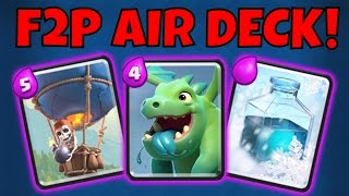 NO LEGENDARY AIR DECK Spotlight! LOON & BABY DRAGON Strategy in Clash Royale