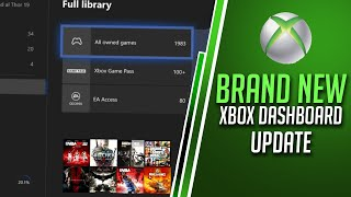 Brand New Xbox One Dashboard Update - My Games and Apps Re-Design | Xbox Update 2020