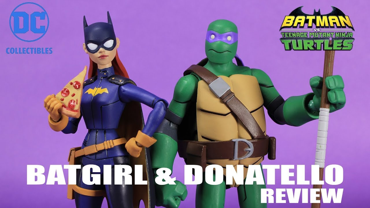 Donatello Batgirl 2 Pack Batman Vs Tmnt Dc Collectibles Figure Review Youtube