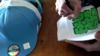 GRAFFITI CAPS #3 how to draw hip hop new era style fashion art tv wars show hats tutorial letters