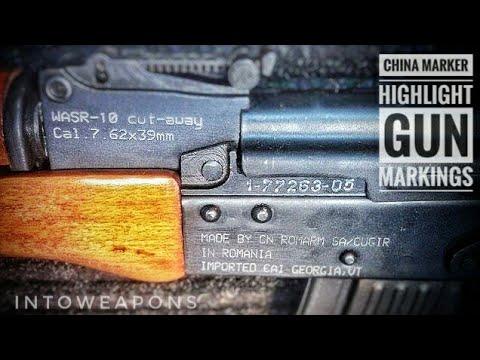 Highlighting Gun Markings:  How To Use China Marker