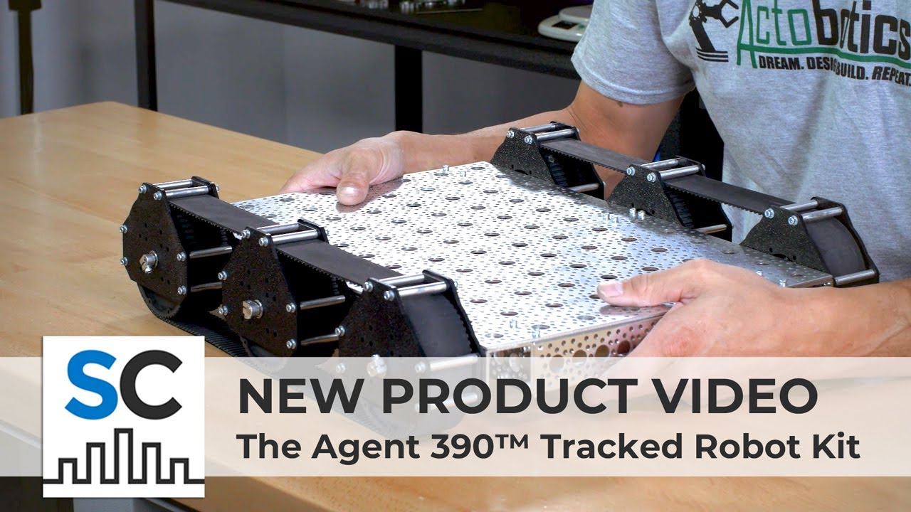 ServoCity Products : The Agent 390™ Tracked Robot Kit