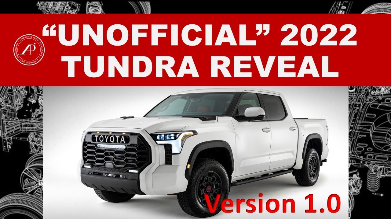 THIS IS THE 2022 TOYOTA TUNDRA REVEAL VIDEO THAT TOYOTA SHOULD HAVE CREATED! - Engineer's Creation!