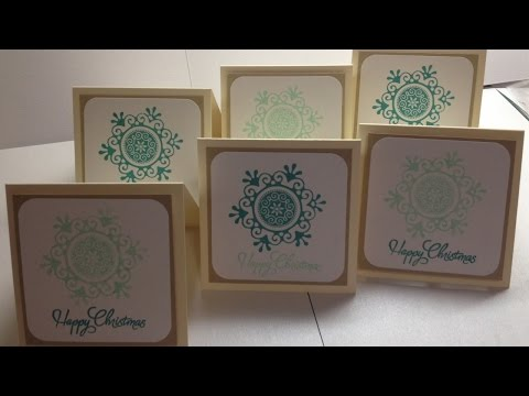 Make a Pretty Aqua Snowflake Notecard Set - DIY Crafts - Guidecentral