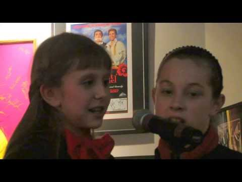Megan Schauer (10) singing Let It Snow in a trio from Birder Studio