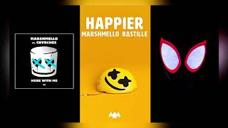 HERE WITH ME x HAPPIER x SUNFLOWER (Mashup) - Marshmello, Post Malone, CHVRCHES, Bastille, Swae Lee Video