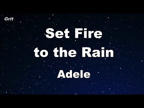 Set Fire To The Rain - Adele  Karaoke 【No Guide Melody】 Instrumental