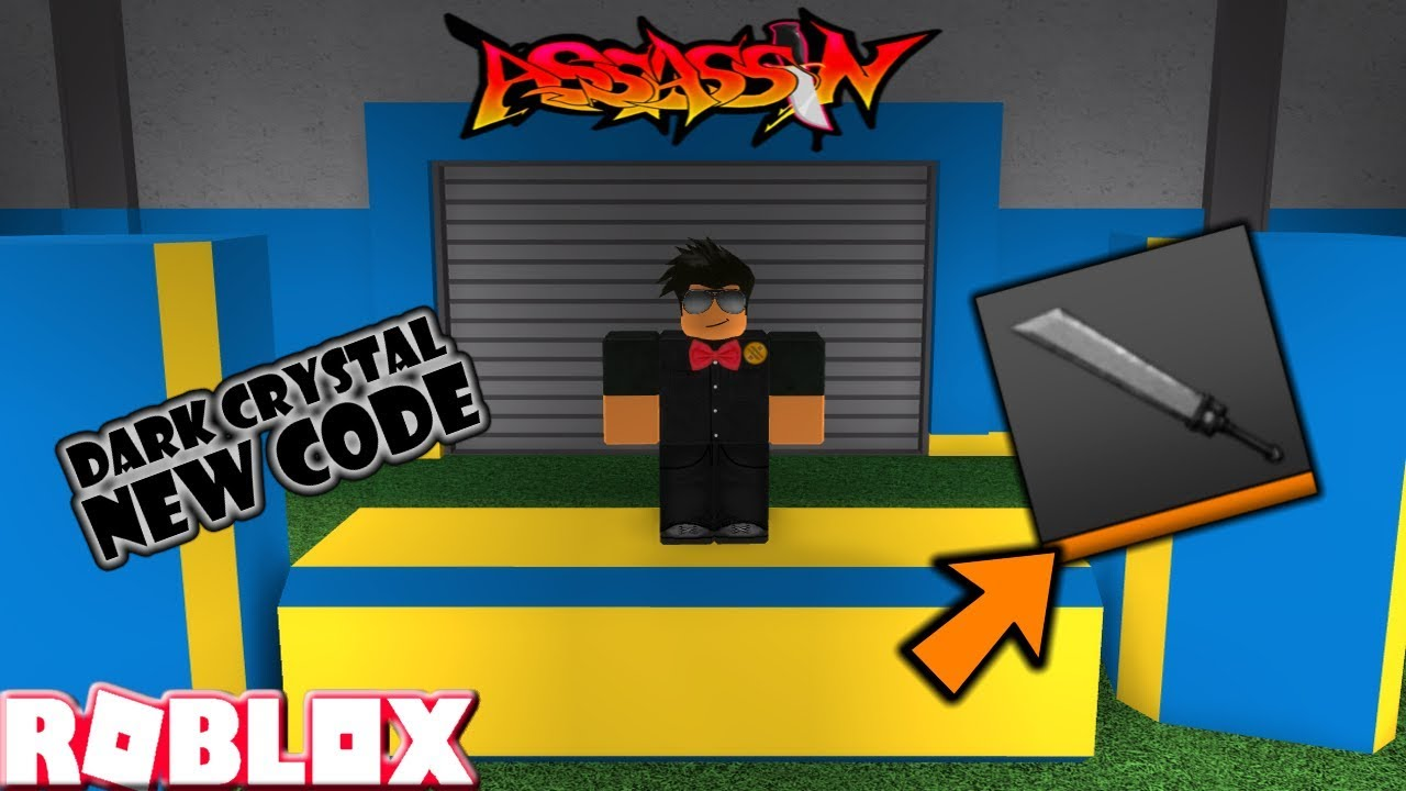 Code For Dark Knife On Roblox Assasine Roblox Assassin New Rare Dark Crystal Code Will Come Back Later Youtube