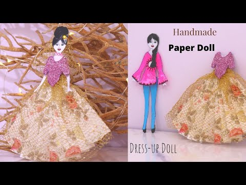 DIY Handmade Paper Doll Making / Awesome Paper Doll With Different Dresses/Easy Doll Making Crafts