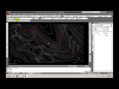 Create Contour AUTOCAD LAND DEVELOPMENT 2009