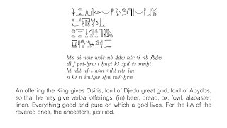 Divine Words Wednesday - Discussion on the Egyptian Offering Formula