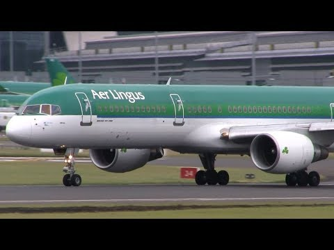 Aer Lingus Boeing 757-200 Takeoff from Dublin Airport