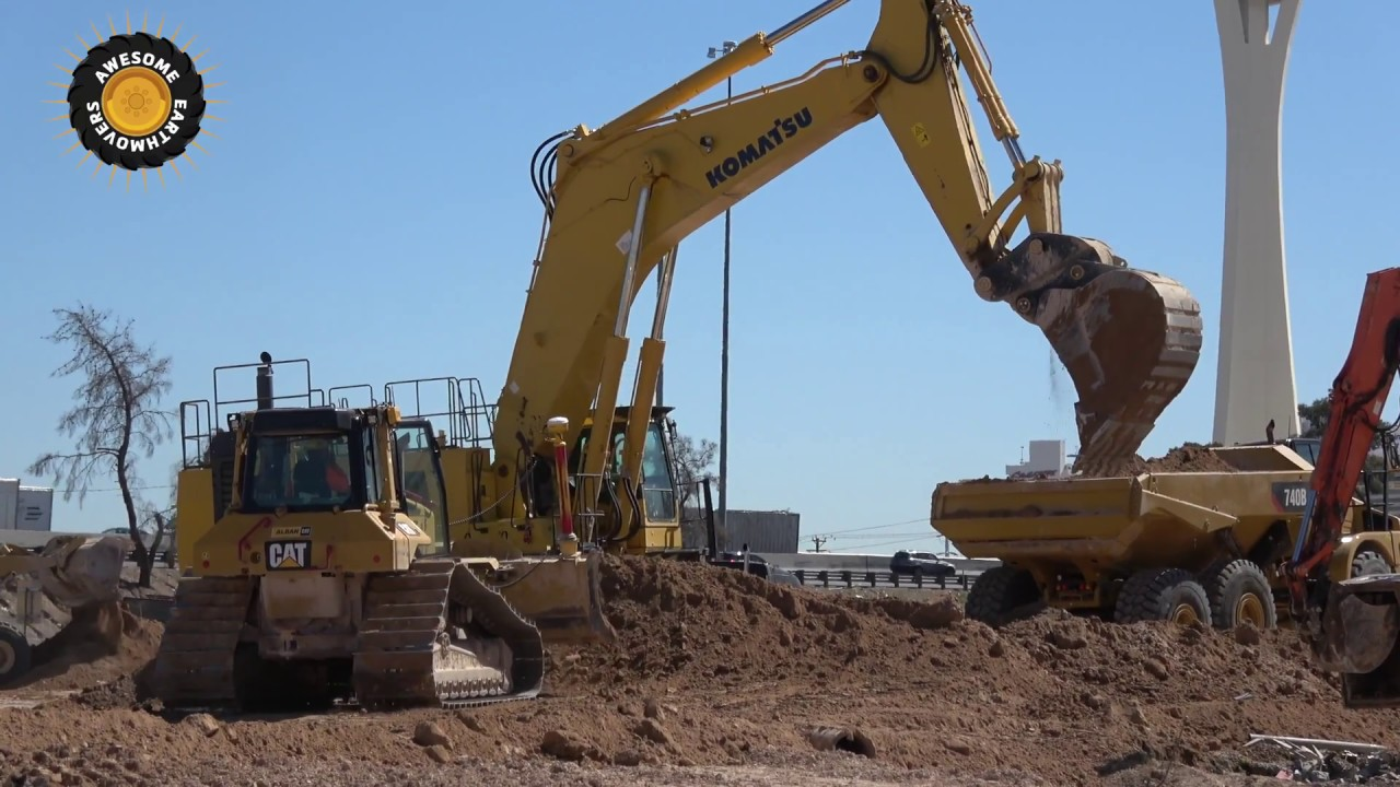 komatsu pc1250 excavator working in las vegas youtube