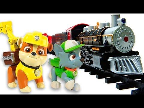 Paw Patrol çizgi Film Oyuncakları - Türkçe Izle. Rocky Ve Rubble Tren Yolu Tamir Ediyorlar.