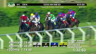 Vidéo de la course PMU PREMIO CLASICO JUAN SHAW