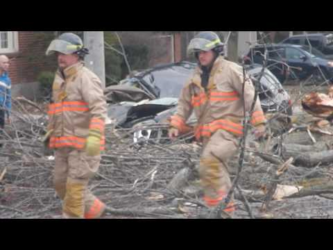 Firefighters free trapped woman