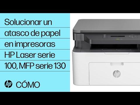 Solucionar un atasco de papel en impresoras HP Laser serie 100, MFP serie 130   HP Laser @HPSupport