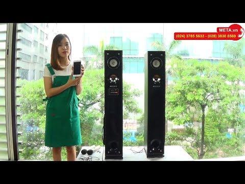 Loa Hát Karaoke Bluetooth BOSSER SA-181K đa Chức Năng, Tặng 2 Micro Không Dây