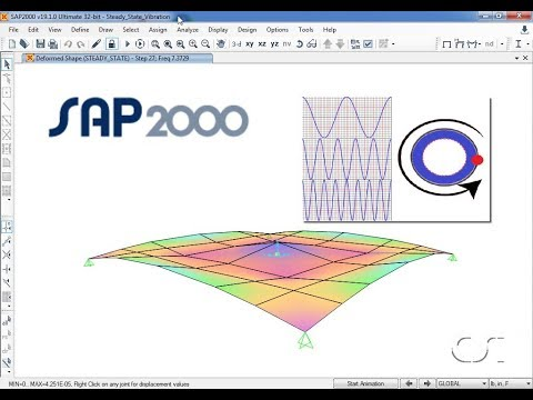 SAP2000 - 32 Steady-State Vibration: Watch & Learn
