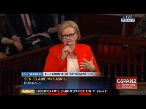 McCaskill on DeVos: I don't understand how you can give the back of your hand to rural America