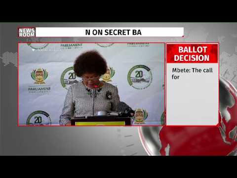 Vote of no confidence in Zuma will be done through secret ballot: Mbete