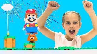 Выполни задания и получи наборы LEGO  Super Mario.  Алина или мама - кто выиграет