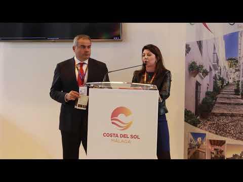 Presentación de Frigiliana en Fitur 2019. Habla la edil de Turismo Carmen Cerezo