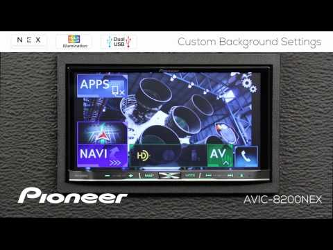 How To Custom Background Images And Colors Pioneer Nex Receivers 2017 Youtube