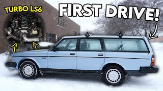 FIRST DRIVE In the BIG TURBO LS6 Volvo Sleeper!