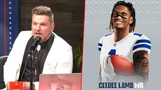 Pat McAfee Reacts To Ceedee Lamb Being Drafted To The Cowboys