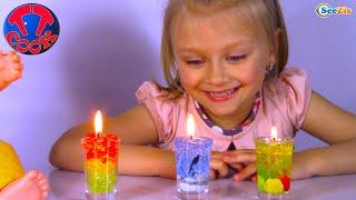 Кукла Беби Борн и Ярослава делают разноцветные Гелевые Свечи | Видео для детей | Baby Born Doll
