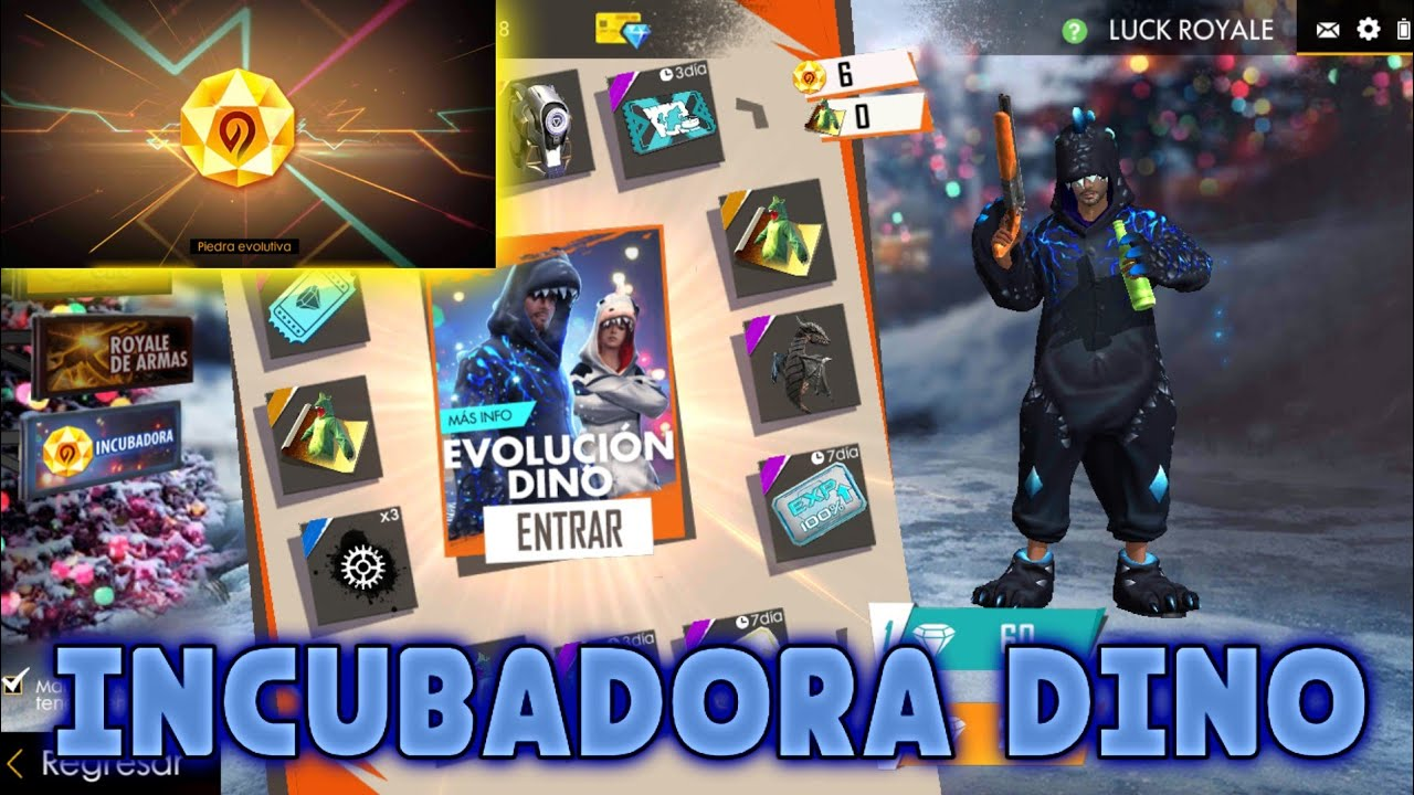 incubadora dino free fire  youtube