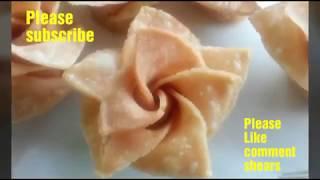 Nokshi Ful pitha design & made dough ।নকশী ফুল পিঠ।গোলাপ পিঠা