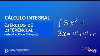 Diferenciales aplicadas para integral. | EJERCICIOS | Fundamentos de Integral. | #CuapaProfe