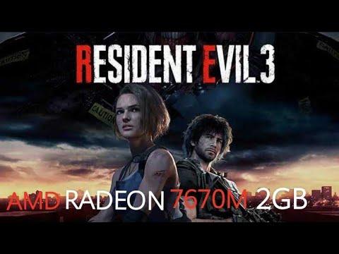 Resident Evil 3 Remake Demo on AMD Radeon 7670M 2GB    Gameplay Test on old GPU