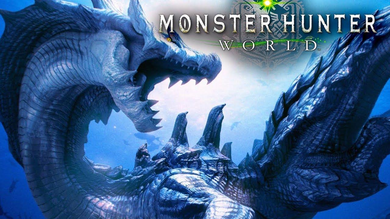 Lagiacrus In Monster Hunter World Turf War Vs Anjanath Gameply Youtube