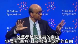 新加坡副总理尚达曼就中国问题和西方新闻自由当众羞辱BBC主持人