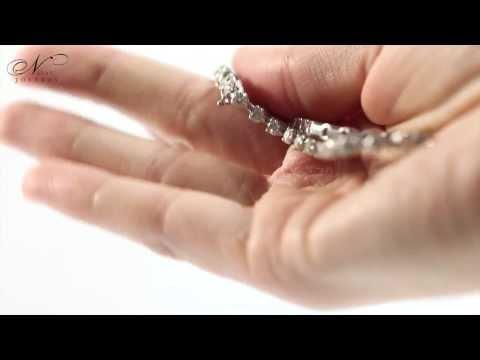 Pulsera de diamantes en tres garras de oro DINASTÍA