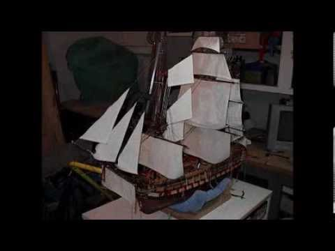 Building Wooden Model Ship Montanes by Bill