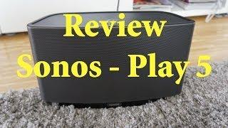 Review: Sonos Play 5 - Wlan Lautsprecher - mit Soundprobe [HD & Deutsch]